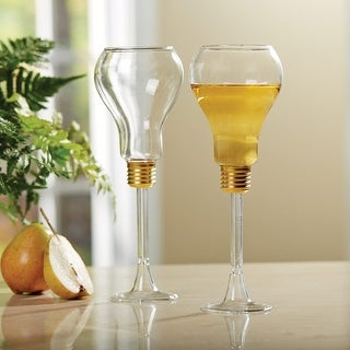 Light Bulb Wine Glasses - Set Of 2