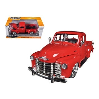 1953 Chevrolet 3100 Pickup Truck Red 1/24 Diecast Model by Jada