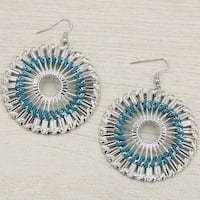 Mad Style Blue Round Spiro Earring