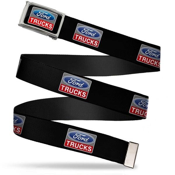 Ford Trucks Full Color Black Gray Blue Red Chrome Ford Trucks Logo Web Belt
