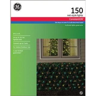 GE 62305 Constant On Net Lights, 24', 150 Multi Color