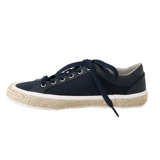 Dolce & Gabbana Blue Leather Cotton Sneakers - eu39-us6