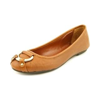 Lauren Ralph Lauren Abigale Round Toe Leather Flats