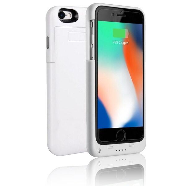 brand new b5321 4815a Indigi® Ultra-Slim iPhone 8 PowerBank Rechargeable Case - High Capacity  3200mAh - White