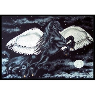 Carolines Treasures AMB1222JMAT Black Flying Horse Indoor or Outdoor Mat 24 x 36
