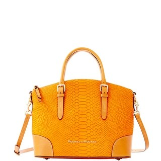 Dooney & Bourke Claremont Python Domed Satchel (Introduced by Dooney & Bourke at $368 in Aug 2014) - Mustard