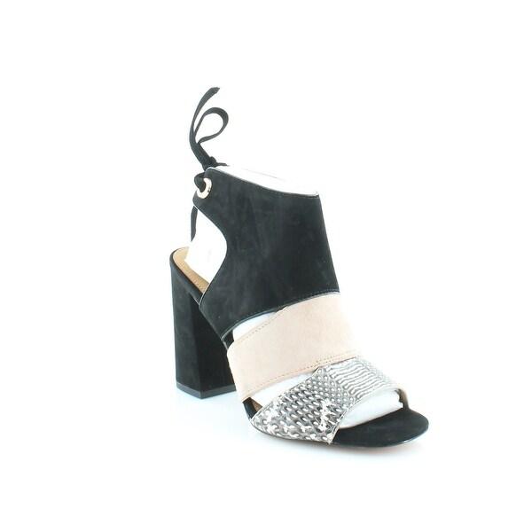 Coach Minetta Women's Heels Black White/ Black