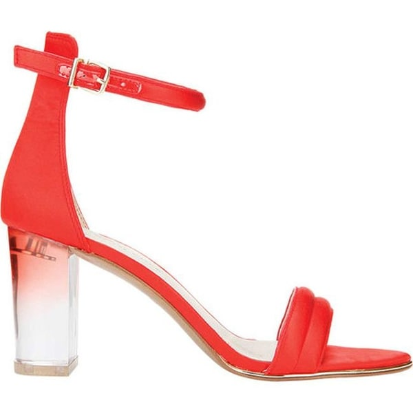 7c6941d333 Shop Kenneth Cole New York Women's Lex Sandal Persimmon Satin/Lucite Heel -  Free Shipping Today - Overstock - 20439383