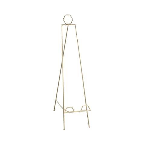 """Geometric Gold Floorstanding Easel - 40"""""""