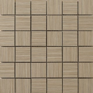 "Emser Tile F72STRA-1212MO2  Strands - 2"" x 2"" Square Mosaic Floor and Wall Tile - Unpolished Fabric Visual"