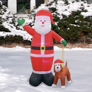 Link to 8FT Santa And Labrador Dog Inflatable - Large Similar Items in Christmas Decorations