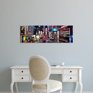 Easy Art Prints Panoramic Image 'Traffic on a road, Times Square, Manhattan, New York City, New York' Canvas Art