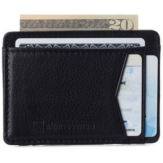 Link to Alpine Swiss RFID Minimalist Oliver Front Pocket Wallet For Men Leather Comes in a Gift Box - One Size Similar Items in Slippers, Socks & Hosiery