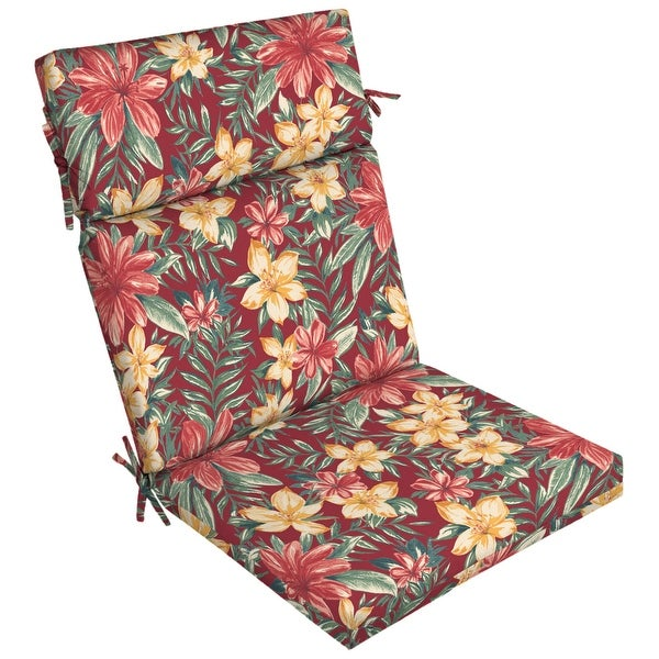 Arden Selections Ruby Clarissa Tropical Outdoor Chair Cushion - 44 in L x 21 in W x 4.5 in H. Opens flyout.