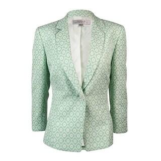 Tahari Women's Floral Notch Lapel Single Button Blazer
