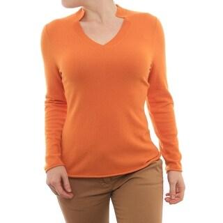 Lafayette 148 New York Long Sleeve V-Neck Sweater Women Regular Sweater