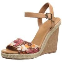 DOLCE by Mojo Moxy Womens Posey Fabric Open Toe Casual Platform Sandals