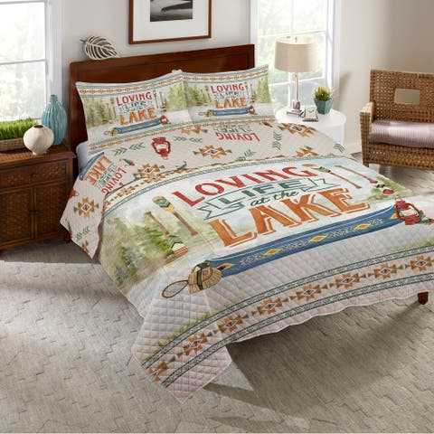 Loving Life At The Lake Queen Quilt Set