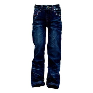 Cowgirl Tuff Western Denim Jeans Girls Fly Free Pink Med GJFFPK