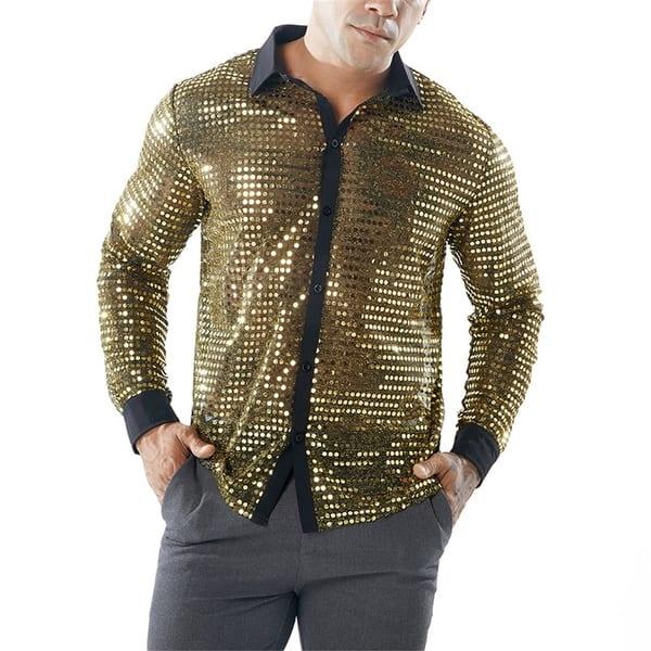 gold sexy shirt