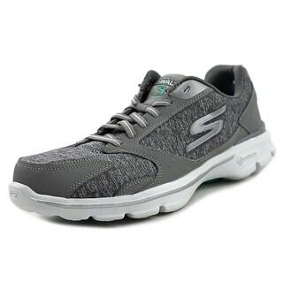 Skechers Go Walk 3-Statement Women  Round Toe Synthetic Gray Walking Shoe