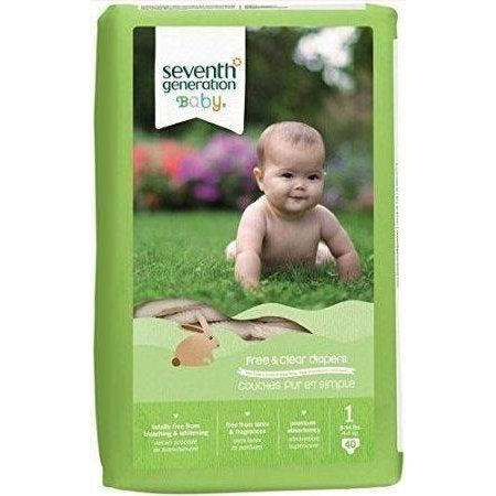 Seventh Generation Free and Clear Baby Diapers - Stage 3 - Case of 4 - 31 Count