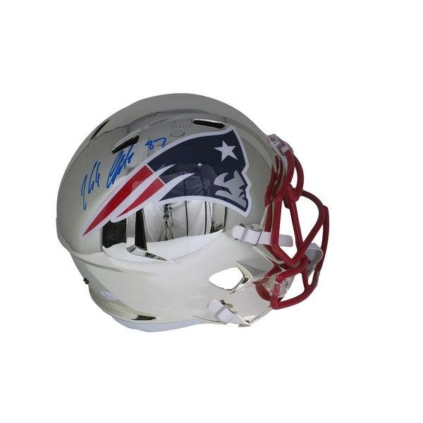 watch 10ba8 2e23e Shop Rob Gronkowski Signed Patriots Full Size Riddell Chrome ...