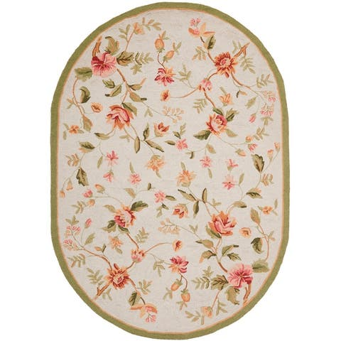 Safavieh Hand-hooked Chelsea Alexandr Country Floral Wool Rug