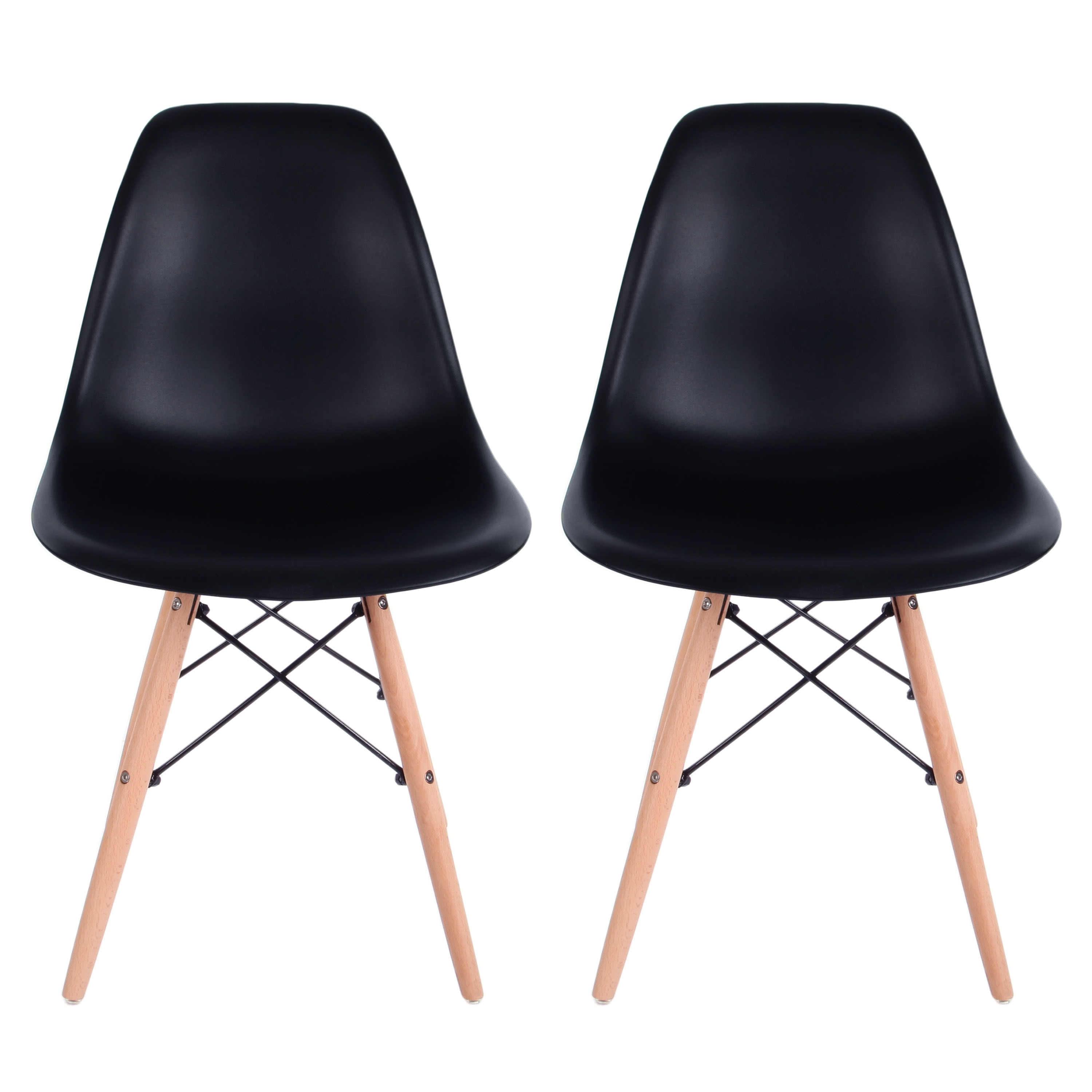 VECELO Eames Style Side Chair , Set of 2 Dining Chair - Thumbnail 7