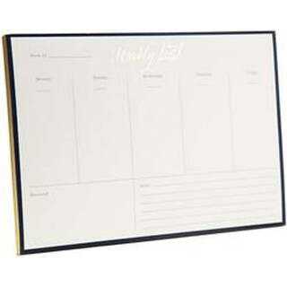 52 Pages - Weekly Note Pad Gold Foil
