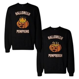 Halloween Pumpking And Pumpqueen Couple Sweatshirts Matching Tops