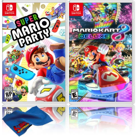Super Mario Party + Mario Kart 8 Deluxe - Two Game Bundle - Nintendo - Black