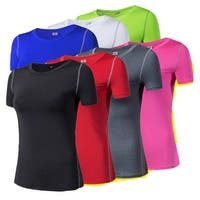 Women's short sleeve T-shirt Quick dry Breathable Tops Yoga Running Fitness