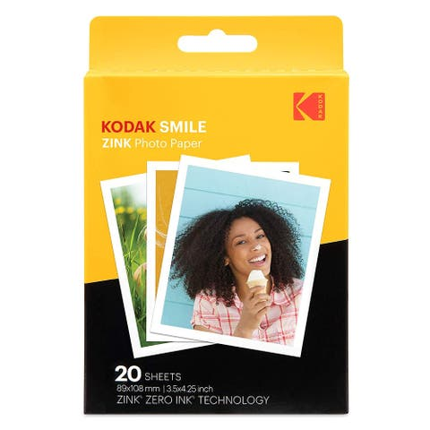 Kodak 3.5x4.25 inch Premium Zink Print Photo Paper (20 Sheets)
