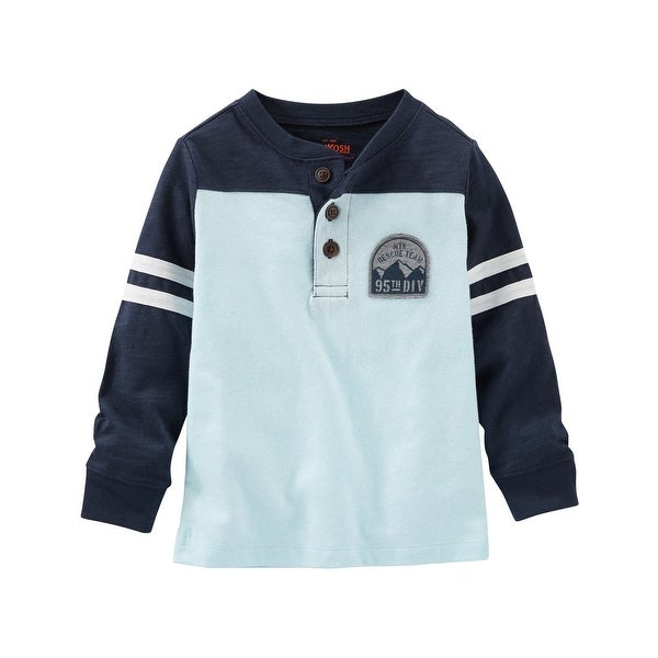 af9f06cd9 Shop OshKosh B'gosh Big Boys' Colorblock Henley, 14-Kids - Ships To ...