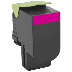 Lexmark 80C0HMG Lexmark Toner Cartridge - Magenta - Laser - High Yield - 3000 Page Magenta - 1 Each