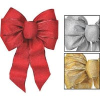 Holiday Trim Glitter Holiday Bow 6166 Unit: EACH Contains 12 per case
