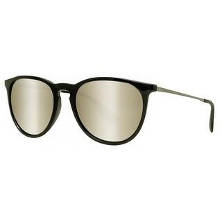 Ray Ban RB4171 601/5A 54mm Erika Black Gunmetal Gold Mirror Round Sunglasses - Black/Gunmetal - 54mm-18mm-145mm
