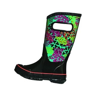 Bogs Outdoor Boots Girls Footprints Rain Waterproof Rubber