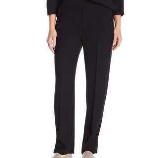 VINCE. NEW Black Women Medium M Stretch-Waist Silk Pull On Dress Pants