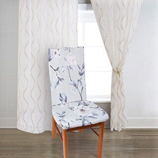 Unique Bargains Flower Pattern Spandex Stretch Flower Dining Chair Slipcovers