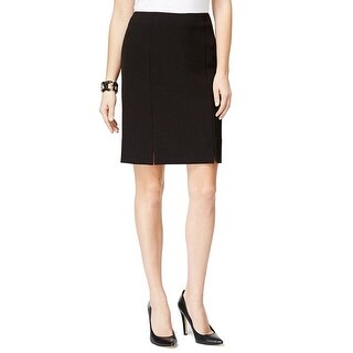 Kasper NEW Black Women's Size 10P Petite Straight Pencil Solid Skirt