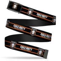 Call Of Duty Black Ops Iii Skull Icon Fcg Black Orange White  Chrome Web Belt