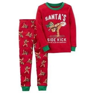 Carter's Baby Boys' 2-Piece Gingerbread Snug Fit Cotton PJs, 18 Months - gingerbread man