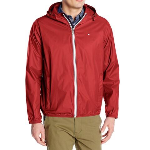 Tommy Hilfiger Red Men's Size XL Windbreaker Packable Jacket
