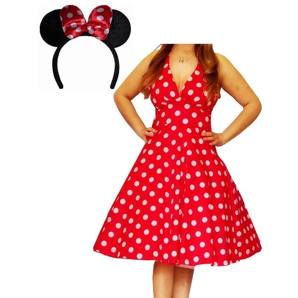 Shop Funfash Plus Size Halloween Costume Red White Dress ...