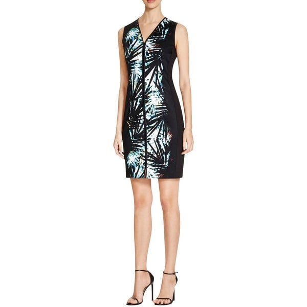 T Tahari Womens Avani Wear to Work Dress Printed Sleeveless