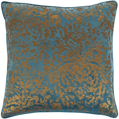 Silver Orchid Barriscale Velvet Metallic 20-inch Throw Pillow Cover