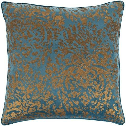 Silver Orchid Barriscale Velvet Metallic Throw Pillow