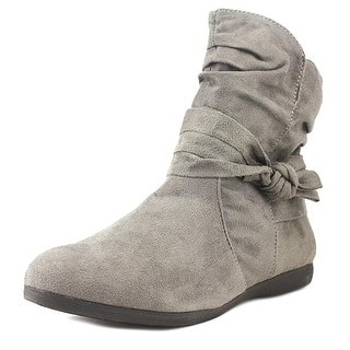 Rampage Betsy Women Round Toe Synthetic Gray Bootie|https://ak1.ostkcdn.com/images/products/is/images/direct/a5ddae25b1d92b9db8fe805d5b6290ae395176e7/Rampage-Betsy-Round-Toe-Synthetic-Bootie.jpg?impolicy=medium